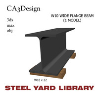 3d w10 wide flange beam model