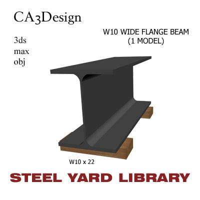 3d w10 wide flange beam model