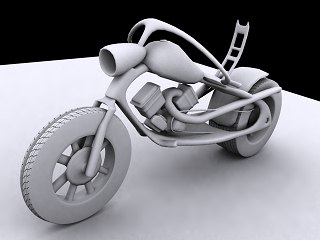 3d model chopper bike
