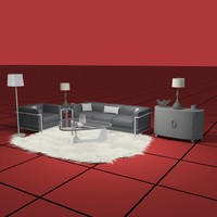 3d model living furniture