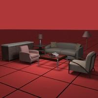 living furniture 3d max