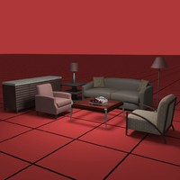 living furniture 3d 3ds