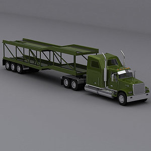 3d model semi trailer truck