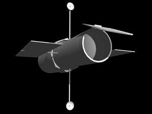 telescope space 3d model