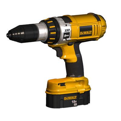 dewalt drill 3d model