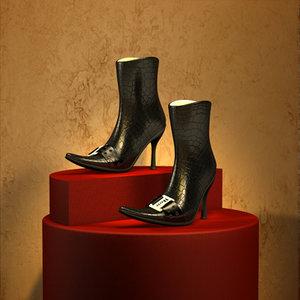 woman shoes 3d 3ds