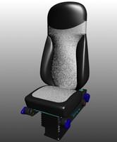 3d car seat model