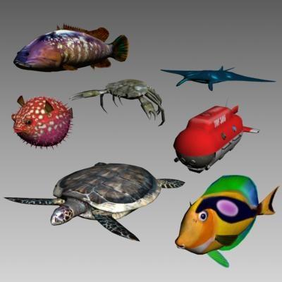 sea animal batyscaphe 3d max