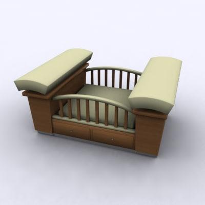 3ds max crib baby