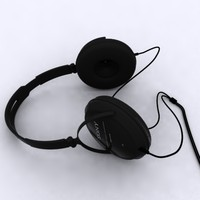 headphones 3d max