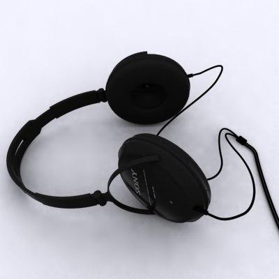 headphones 3d max