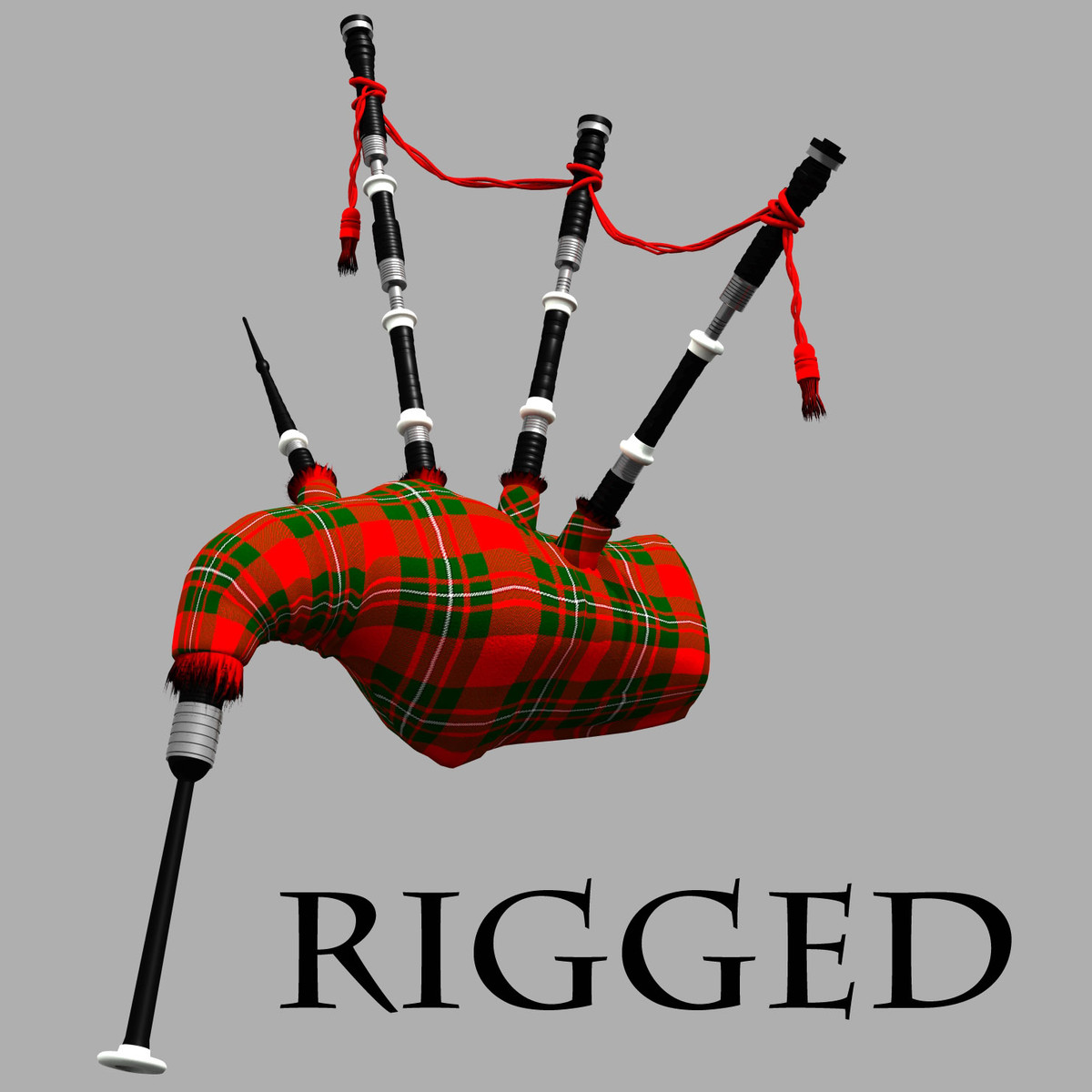 3d scottish bagpipes model