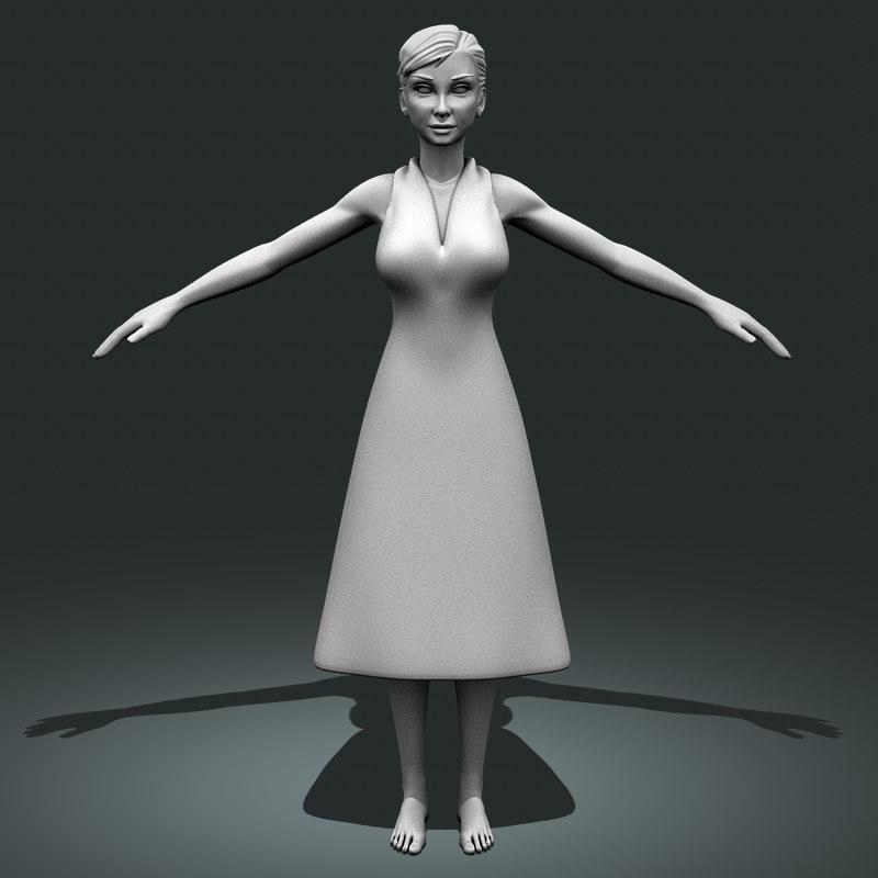 3d model realistic female 1