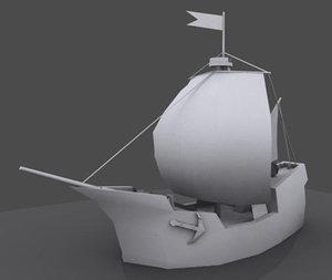 3ds max cartoon sails