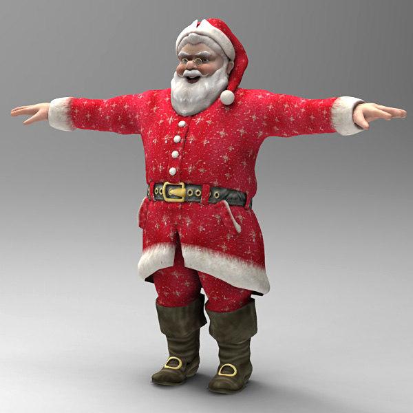 body santa 3d max