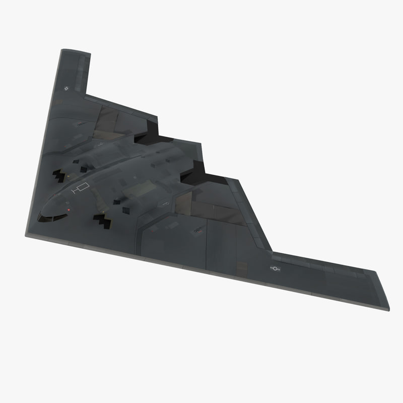 northrop b-2 spirit stealth bomber 3d model
