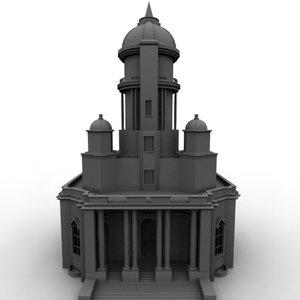 building palace 3d model