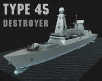 type 45 destroyer 3d model