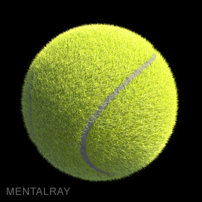 ma tennis ball furry fur renderman