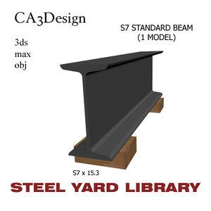 s7 standard beam steel 3d model