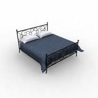 3d model bed classic