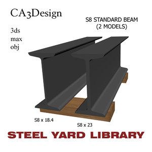 3d model of s8 standard beam steel