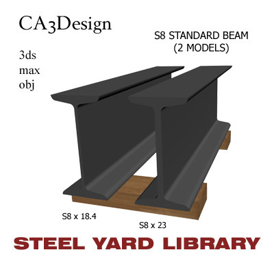 3d model of s8 standard beam steel