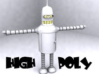 Bender 2 Model Low Poly and High Poly