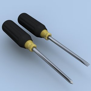 3ds max philips straight blade screwdrivers