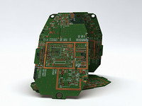 generic circuit board 3d model