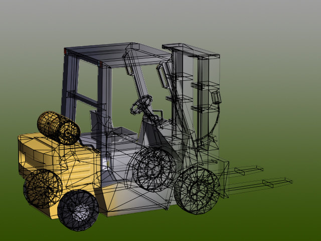 fork lift forklift 3d model