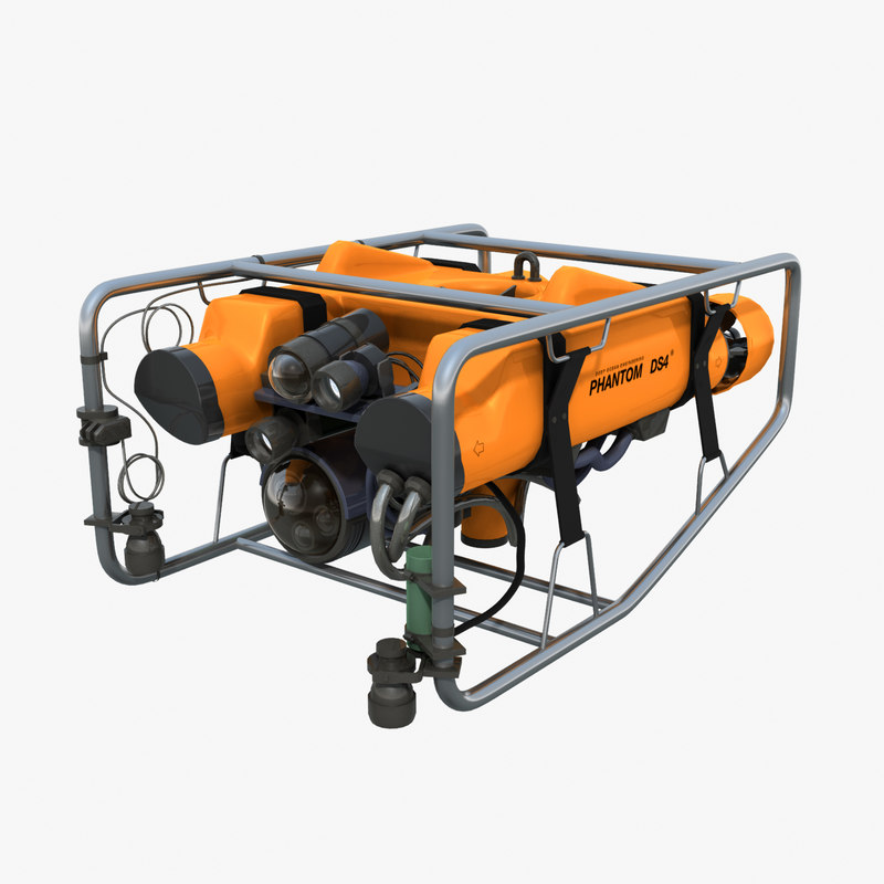 phantom ds4 rov underwater 3d model