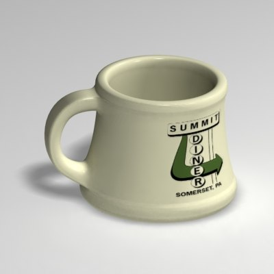 3d model coffee mug zipped
