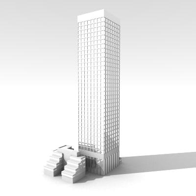 building skyscraper tower 3d model