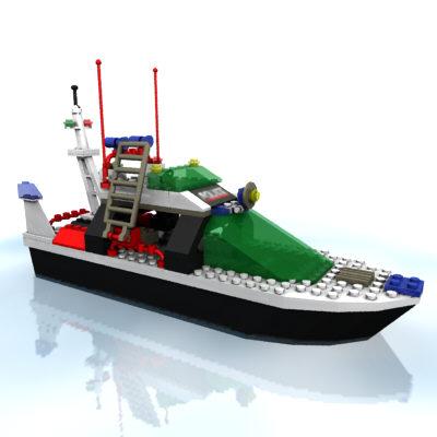 Lego police boat 6433