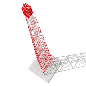 radio tower 3d lwo