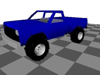 3d 4x4 pickup