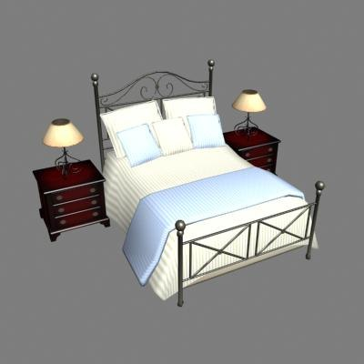 allison bed 3d max