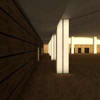 3d 3ds carrousel louvre room