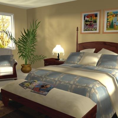 3d bedroom vrml model