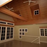 interior loft 3d 3ds