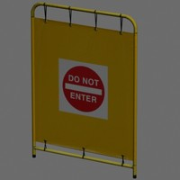 3D do not enter sign/barrier