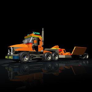 lego truck 3d model