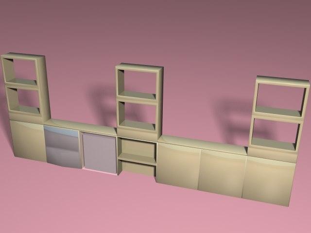 3d simple entertainment center model