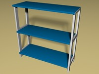 3d model of simple shelf stand