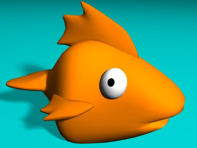simple fish cartoon lwo