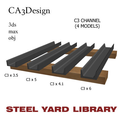 3ds max c3 channel steel