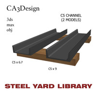 c5 channel steel 3d max