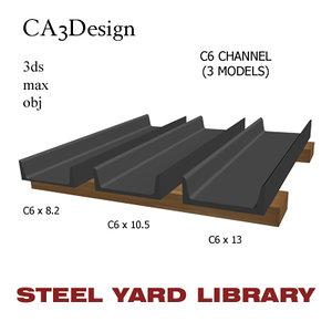 c6 channel steel 3ds