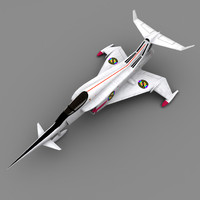 angel interceptor captain scarlet 3d model